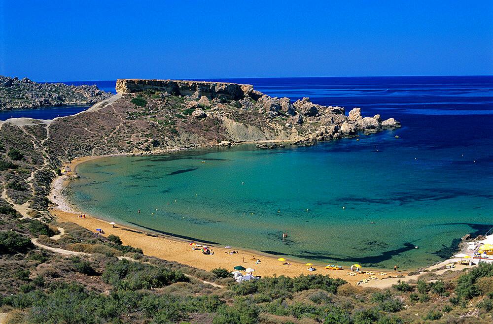 Ghajn Tuffieha Bay, Malta, Mediterranean, Europe - 846-153
