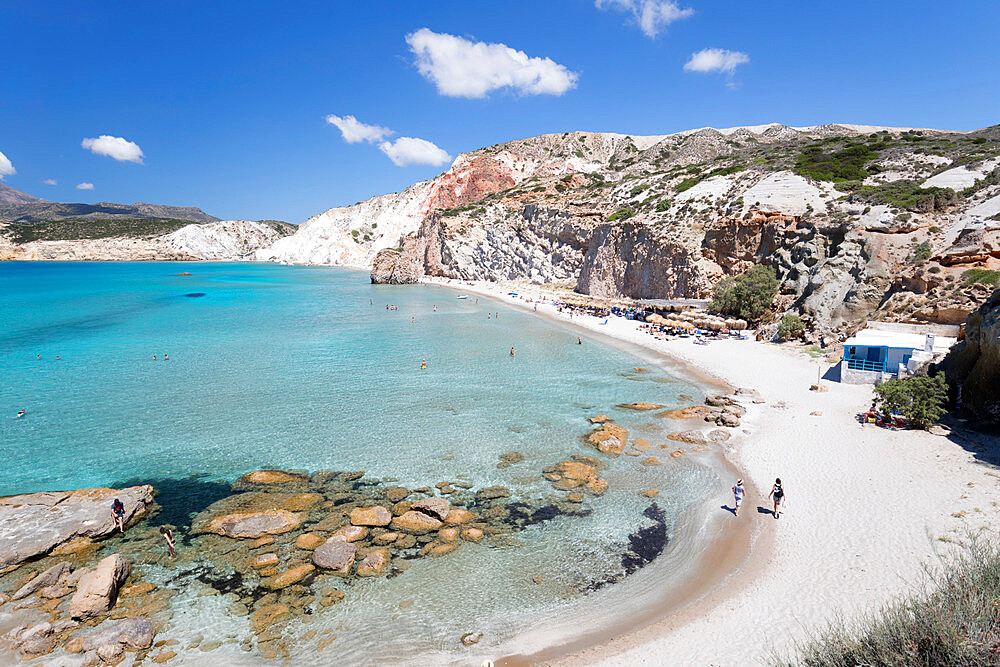Firiplaka beach, Milos, Cyclades, Aegean Sea, Greek Islands, Greece, Europe