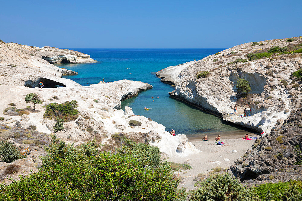 Kapros beach on north east coast, Pachena, Milos, Cyclades, Aegean Sea, Greek Islands, Greece, Europe - 846-2911