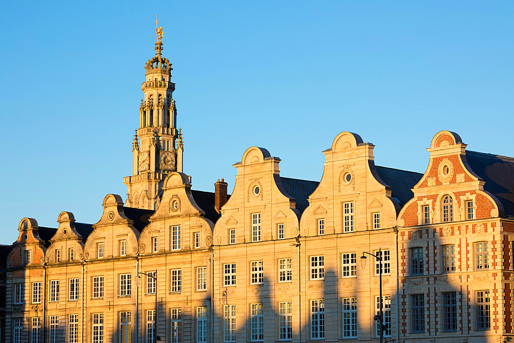 Flemish style facades on Grand Place, Arras, Pas-de-Calais, Hauts-de-France region, France, Europe - 846-2916