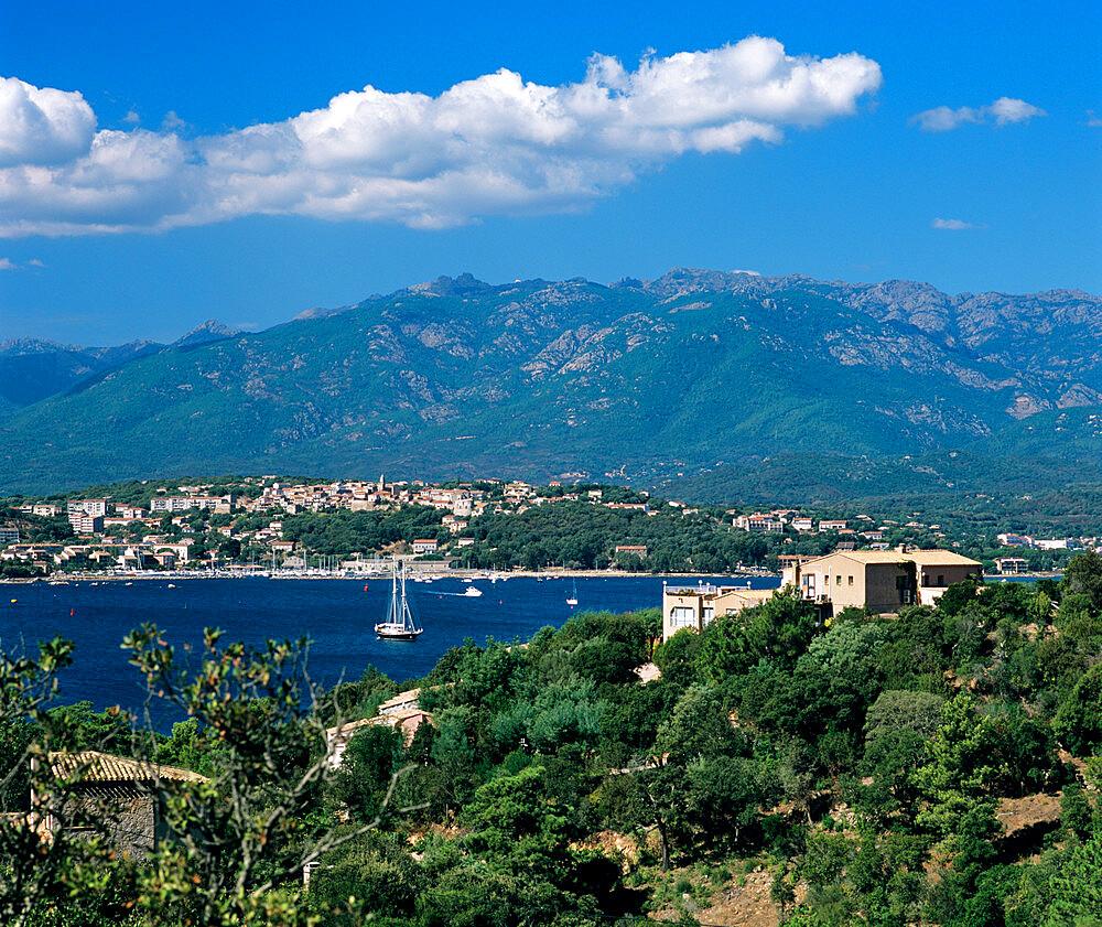 View over Golfe de Porto Vecchio, Porto Vecchio, South East Corsica, Corsica, France, Mediterranean, Europe - 846-771