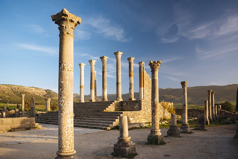 Roman ruins of Volubilis, UNESCO World Heritage Site, Morocco, North Africa, Africa