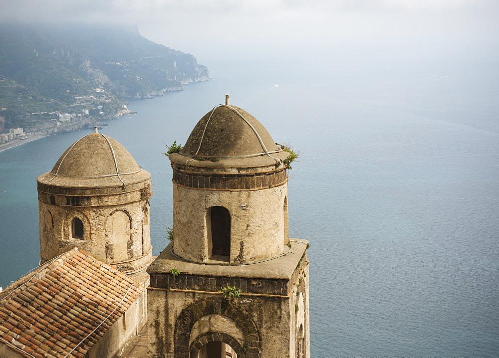 View from Villa Rufolo, Ravello, Amalfi Coast, UNESCO World Heritage Site, Campania, Italy, Europe