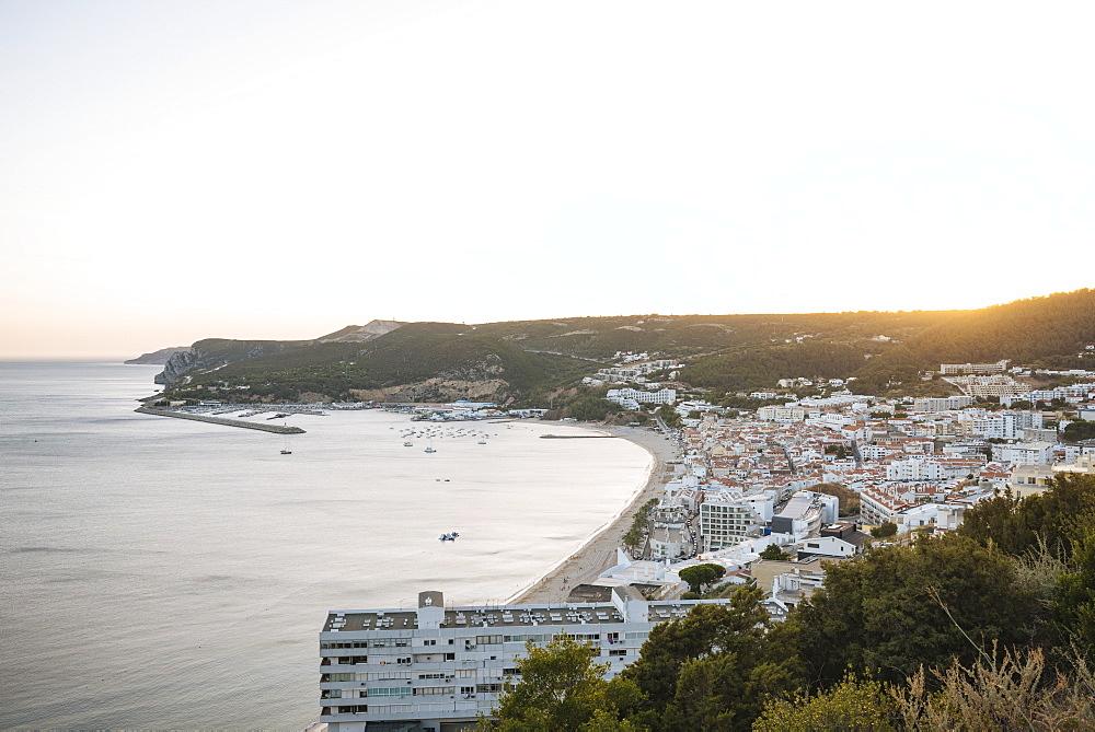 Sunset over Seisimbra, Setubal District, Portugal, Europe