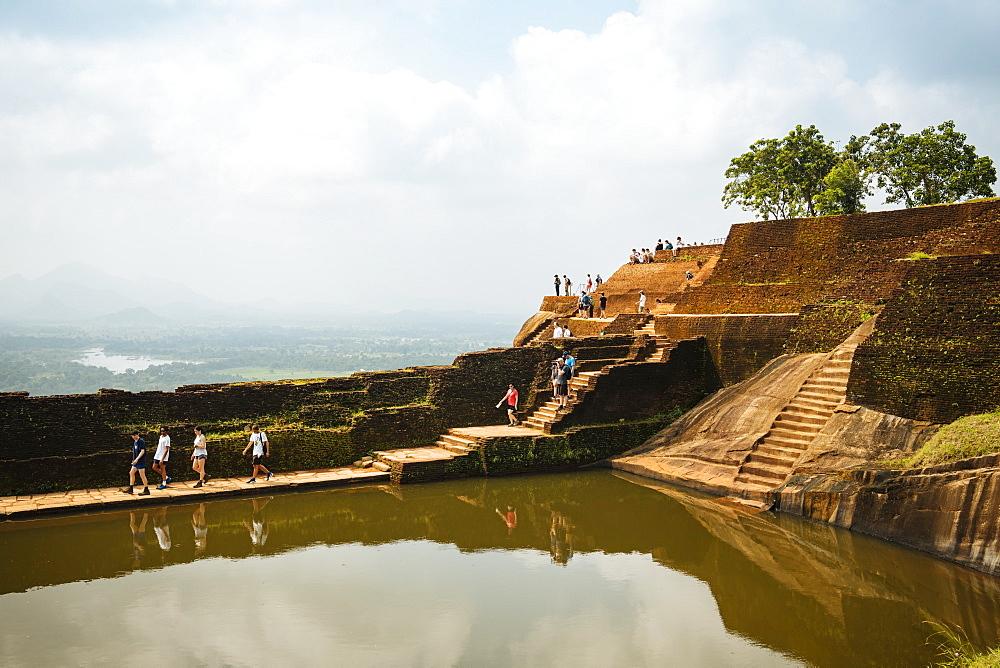 Water tank, Sigiriya, UNESCO World Heritage Site, Central Province, Sri Lanka, Asia