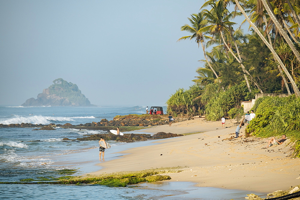 Surfing, Weligama Bay, South Coast, Sri Lanka, Asia