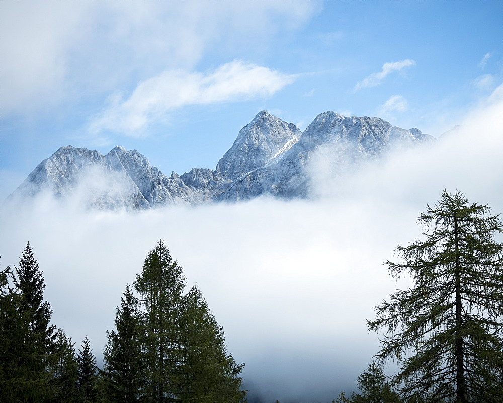 Detail of Mountain Peaks, Vrsic Pass, Julian Alps, Triglav National Park, Upper Carniola, Slovenia, Europe