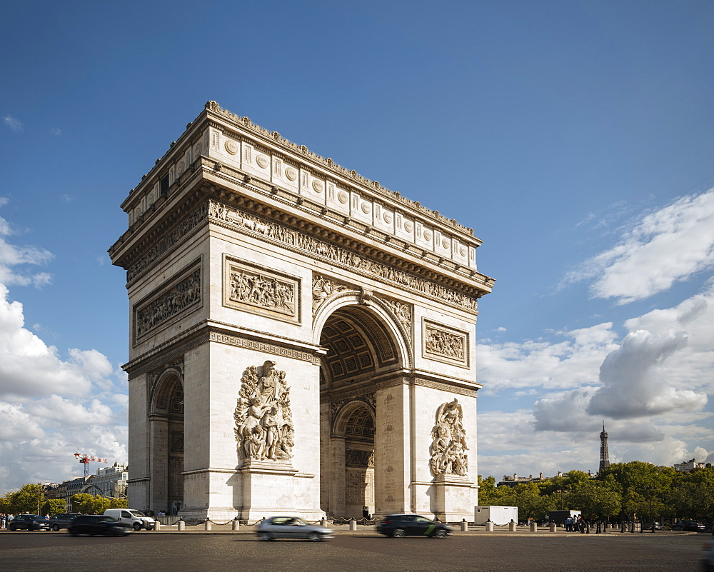 Arc de Triomphe de l'v?toile, Paris, v?le-de-France, France, Europe - 848-2174
