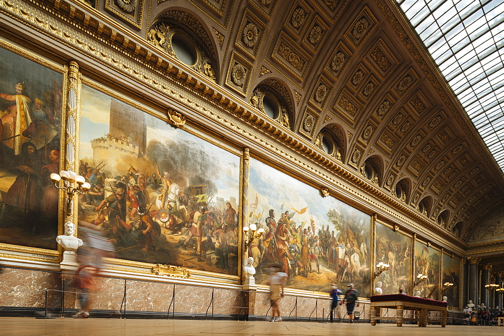 The Battles Gallery, Palace of Versailles, Paris, v?le-de-France, France, Europe - 848-2184