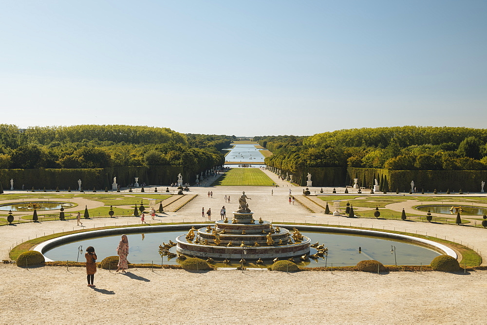 Gardens, Palace of Versailles, Paris, v?le-de-France, France, Europe