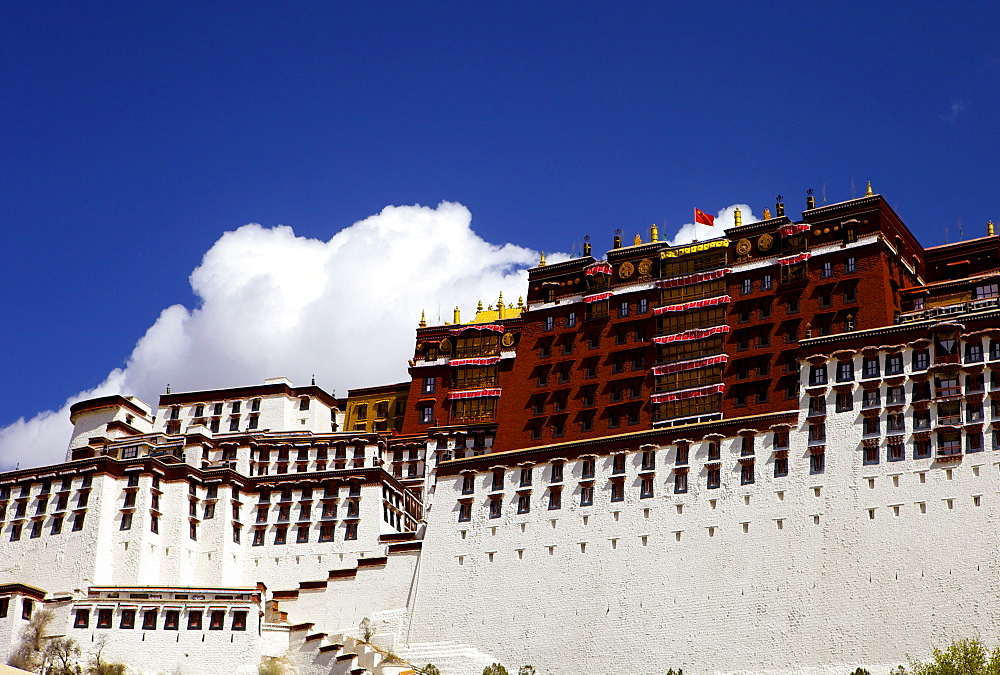 The Potala Palace, UNESCO World Heritage Site, Lhasa, Tibet, China, Asia