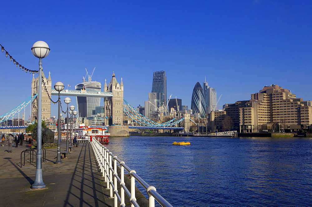 Tower Bridge, the River Thames and the City of London, London, England, United Kingdom, Europe