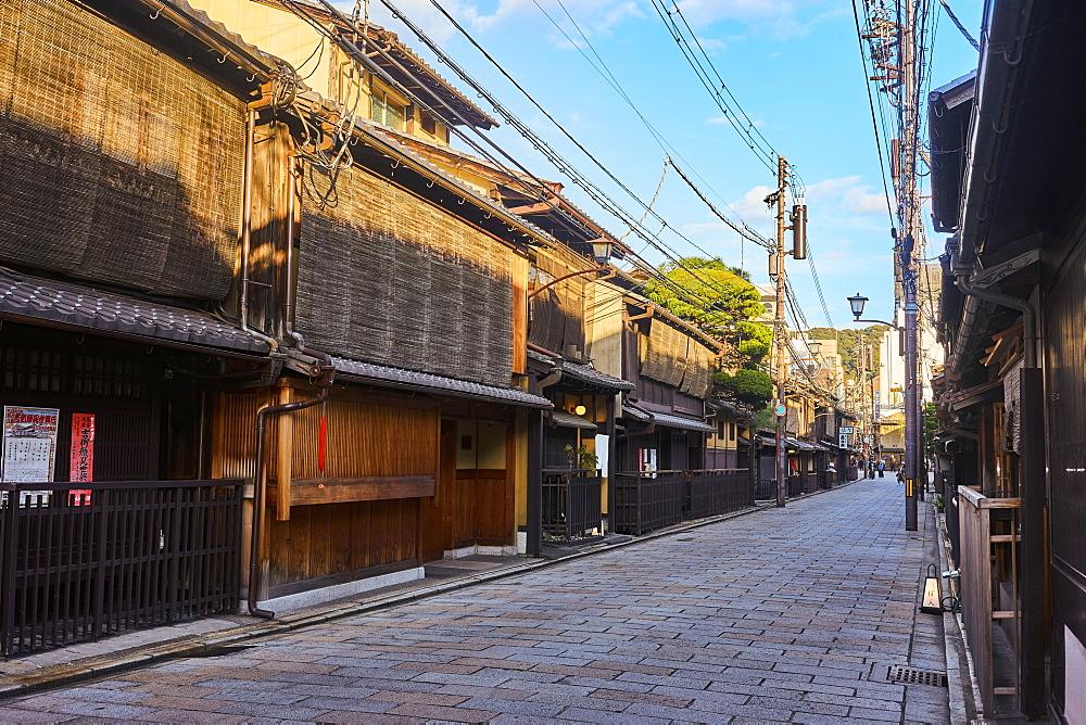 Shinbashi Dori street in Kyoto.