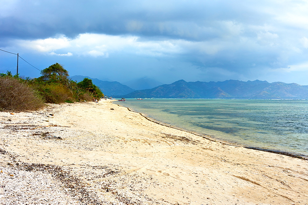 Beach in Gili Air with Lombok in background, Indonesia, Southeast Asia, Asia - 851-859
