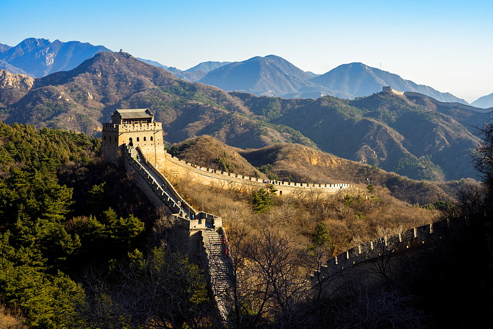 The Badaling section of the Great Wall of China in winter, UNESCO World Heritage Site, Badaling, China, Asia - 851-878