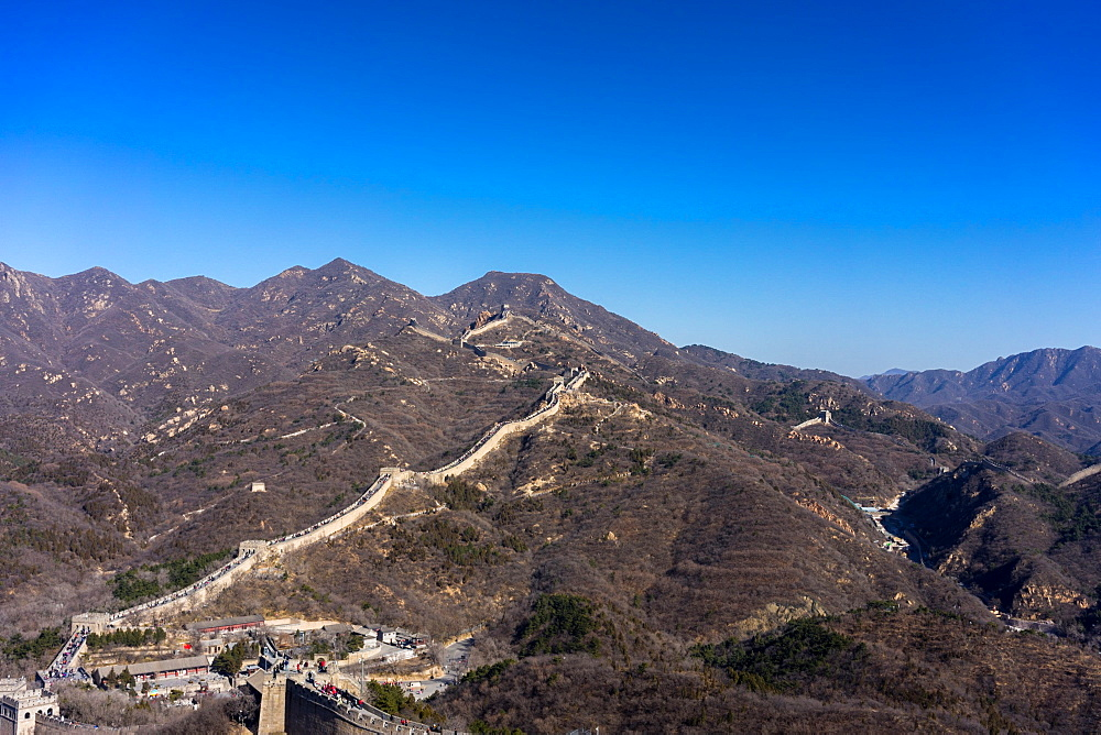 The Badaling section of the Great Wall of China in winter, UNESCO World Heritage Site, Badaling, China, Asia - 851-880