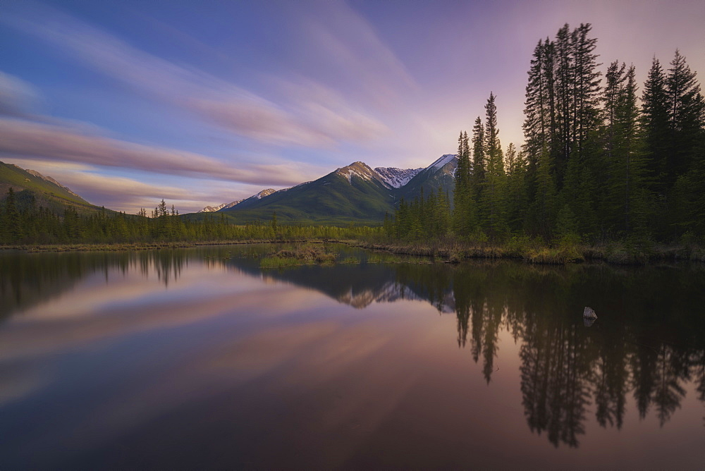 Scenic View Of Vermillion Lake In British Columbia, Canada