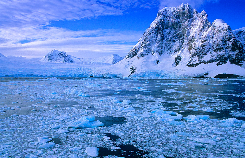 Northern Lemaire Channel - shaped and formed by ice. Lemaire Channel, Antarctic Peninsula, Antarctica. - 909-113