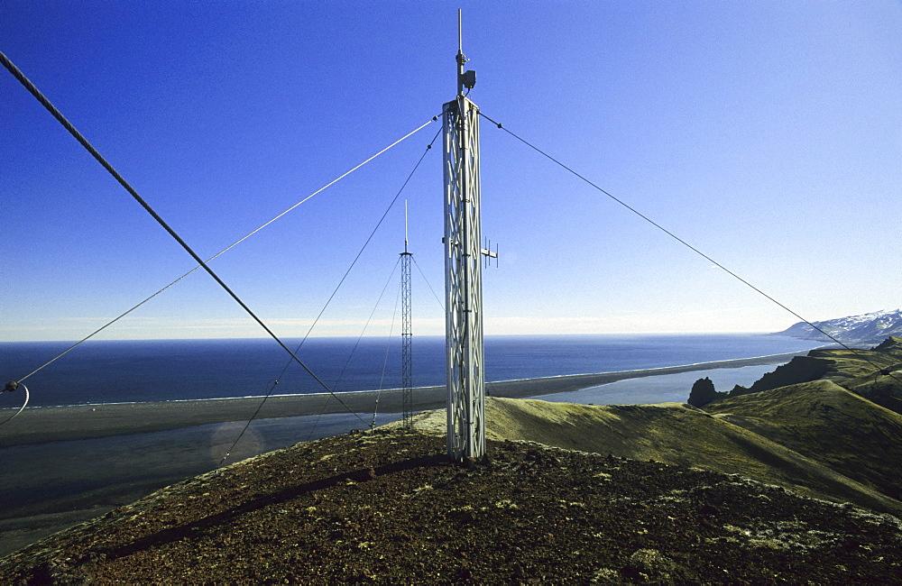 Infrastructur on top of Danielssenkrateret. Jan Mayen, North Atlantic Island - 909-133