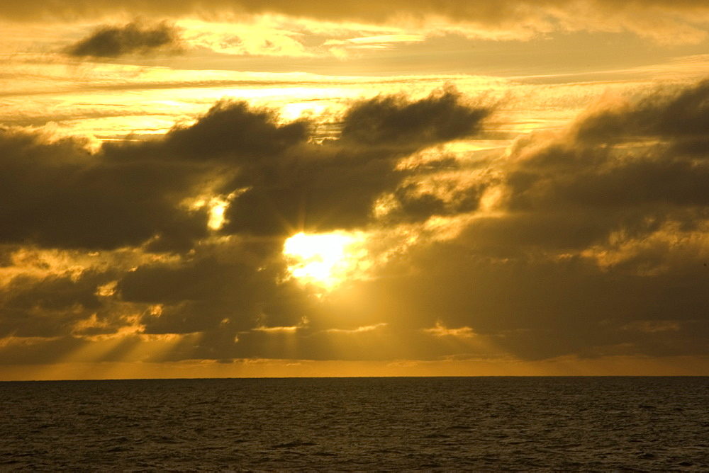 Sunset over lagoon, Ailuk atol Marshall Islands, Micronesia, Pacific