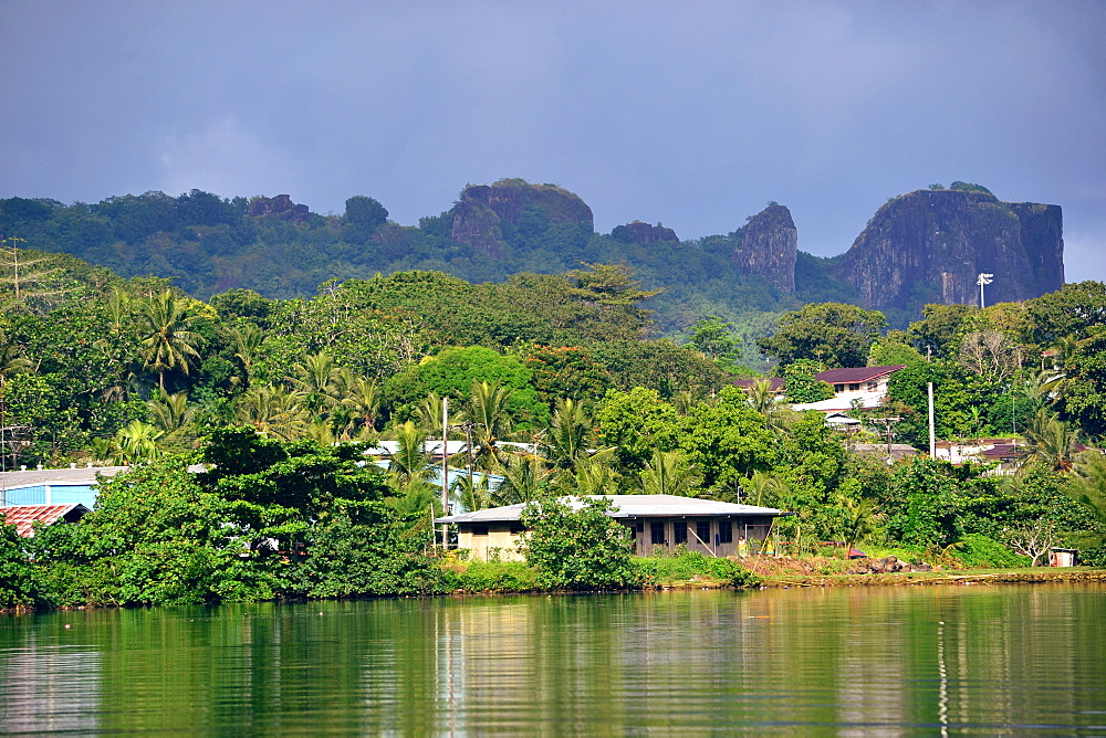 Houses of Kolonia, Pohnpei, Federated States of Micronesia, Caroline Islands, Micronesia, Pacific Ocean, Pacific