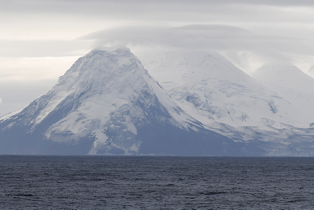 Snow-covered hills of Bristol Island, South Sandwich Islands, Polar Regions