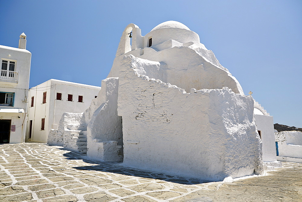 Church of Paraportiani, Mykonos Town (Chora), Mykonos, Cyclades, Greek Islands, Greece, Europe - 975-274