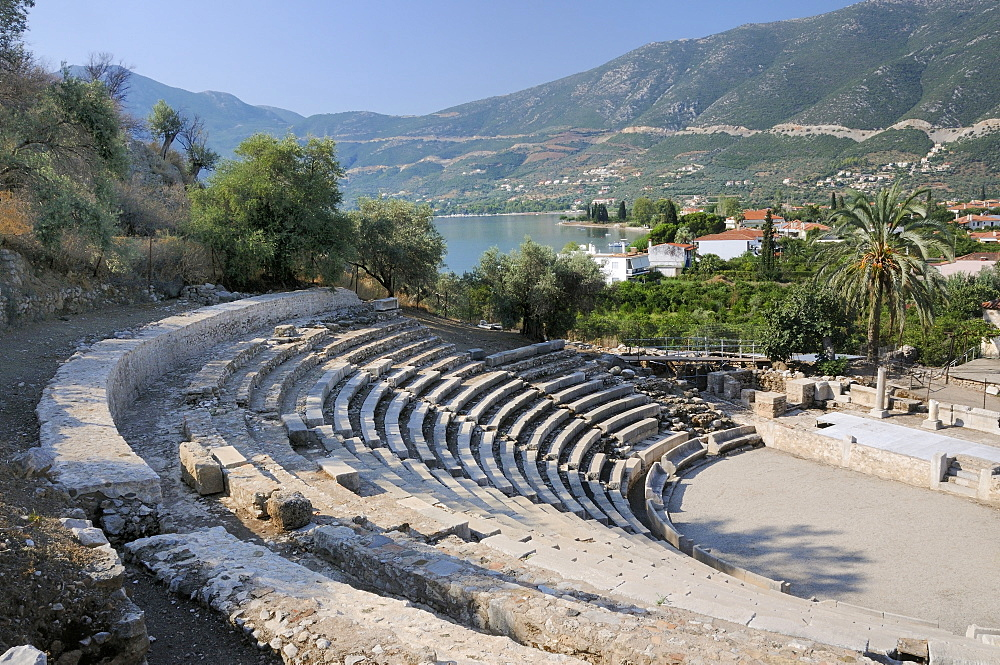 Small theatre of Ancient Epidaurus (Epidavros), Argolis, Peloponnese, Greece, Europe - 989-413