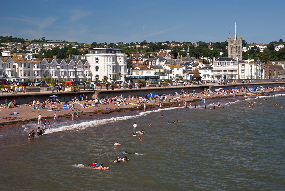 Teignmouth foreshore in summer, Teignmouth, England, UK - 994-30