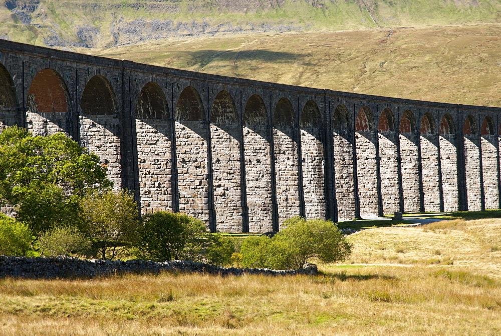 Train Line Viaduct, Ribblehead Viaduct, Yorkshire Dales, England, UK - 994-33