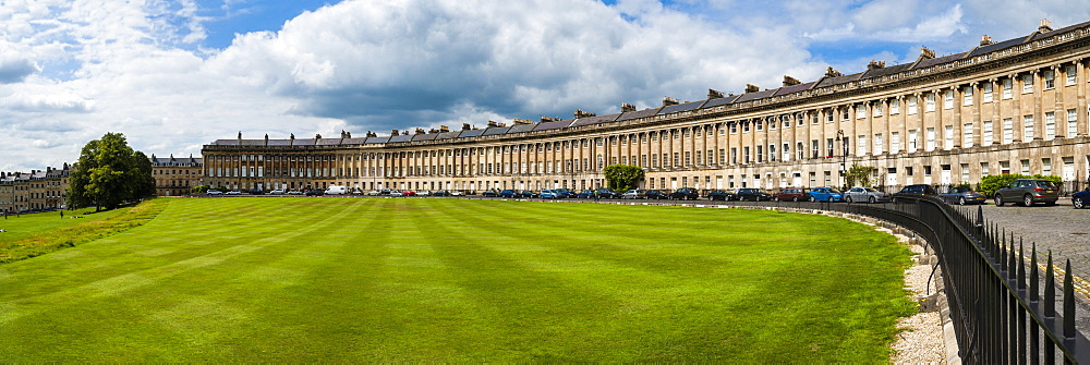 The Royal Crescent, Bath, UNESCO World Heritage Site, Avon and Somerset, England, United Kingdom, Europe