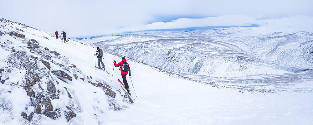 Ski touring at CairnGorm Mountain Ski Resort, Aviemore, Cairngorms National Park, Scotland, United Kingdom, Europe - 1109-3099