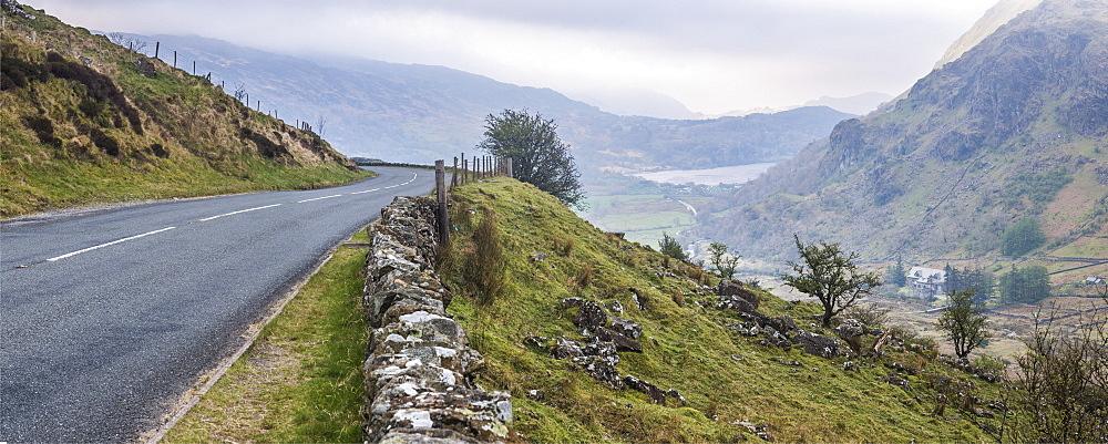 View of Llyn Gwynant Lake, Snowdonia National Park, North Wales, United Kingdom, Europe