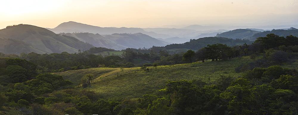 Monteverde Cloud Forest Reserve at sunset, Puntarenas, Costa Rica, Central America