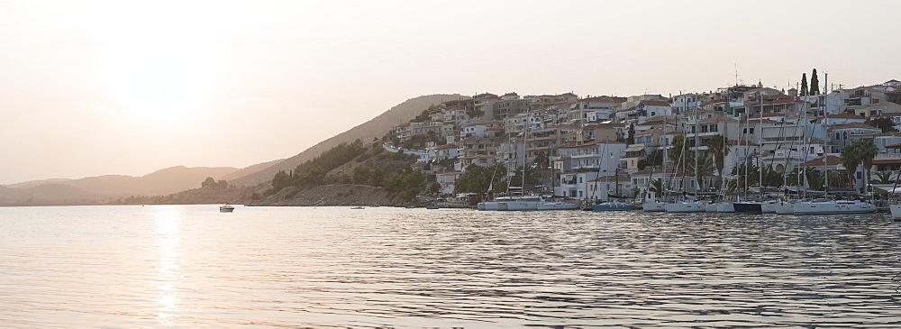 Ermioni at sunset, Ermioni, Peloponnese, Greece, Europe