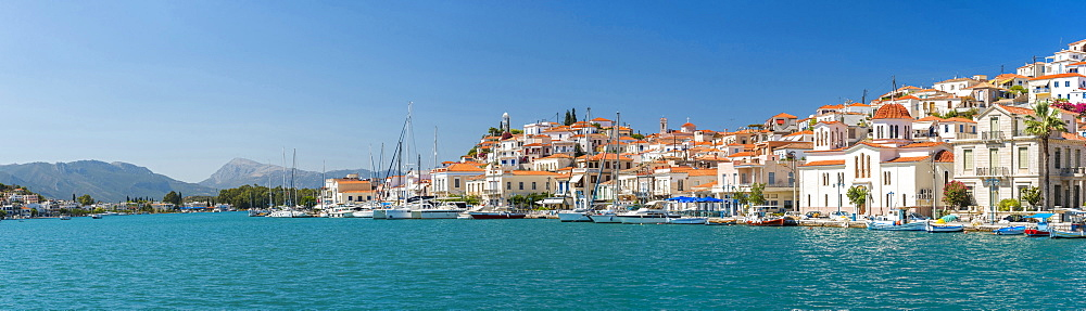 Poros Island port, Saronic Island, Aegean Coast, Greece, Europe