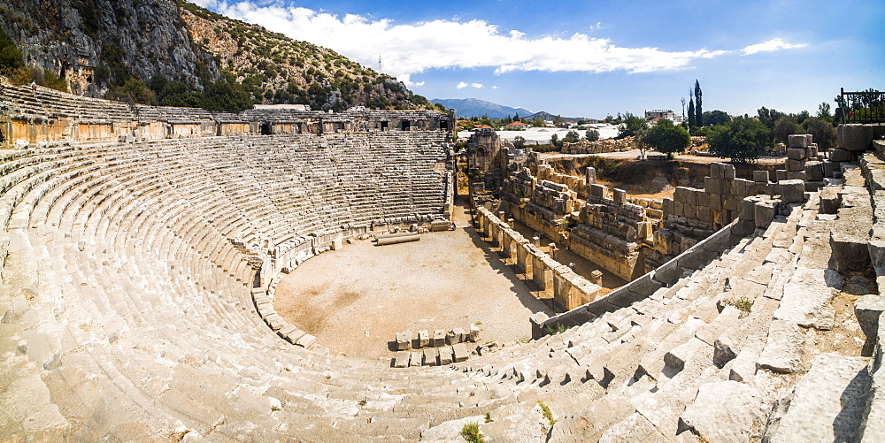 Myra Amphitheatre, the largest in Lycia, Demre, Antalya Province, Anatolia, Turkey, Asia Minor, Eurasia