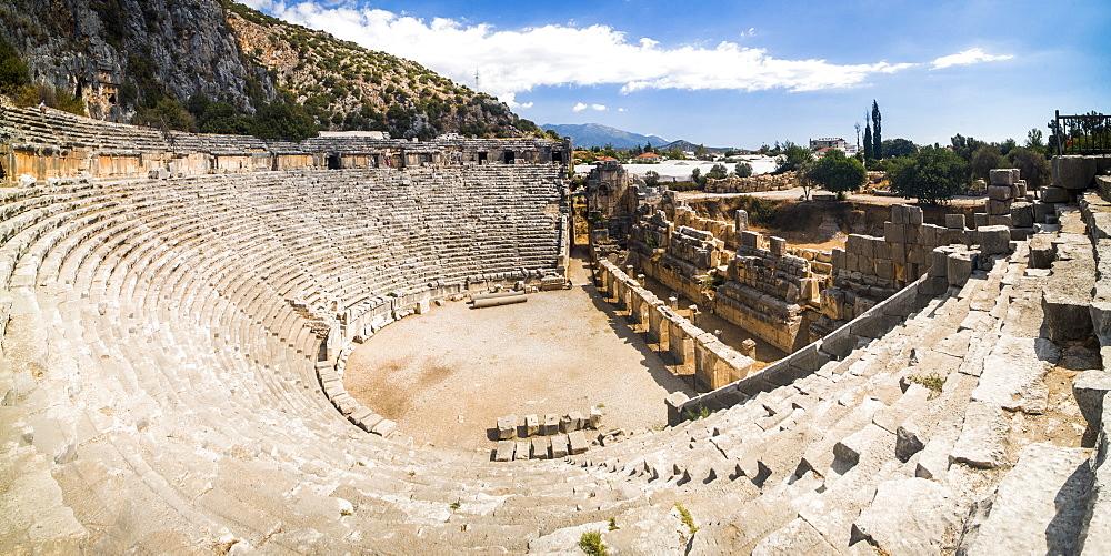 Myra Amphitheatre, the largest in Lycia, Demre, Antalya Province, Anatolia, Turkey, Asia Minor, Eurasia - 1109-3432