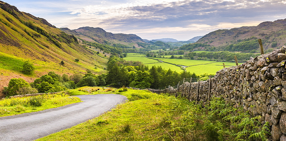 Hardknott Pass in Lake District, Cumbria, England