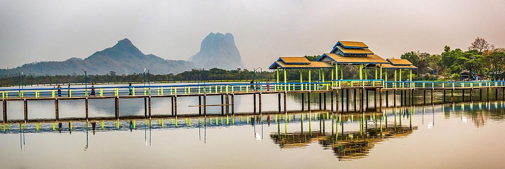 Kan Thar Yar Lake, Hpa An, Kayin State (Karen State), Myanmar (Burma), Asia