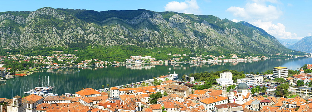 Aerial view of Kotor Old Town, Unesco World Heritage Site, Kotor, Montenegro - 1131-1182