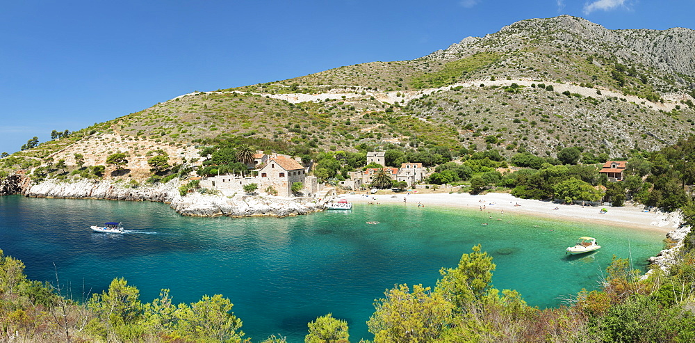 Dubovica bay and beach, Hvar Island, Dalmatia, Croatia, Europe
