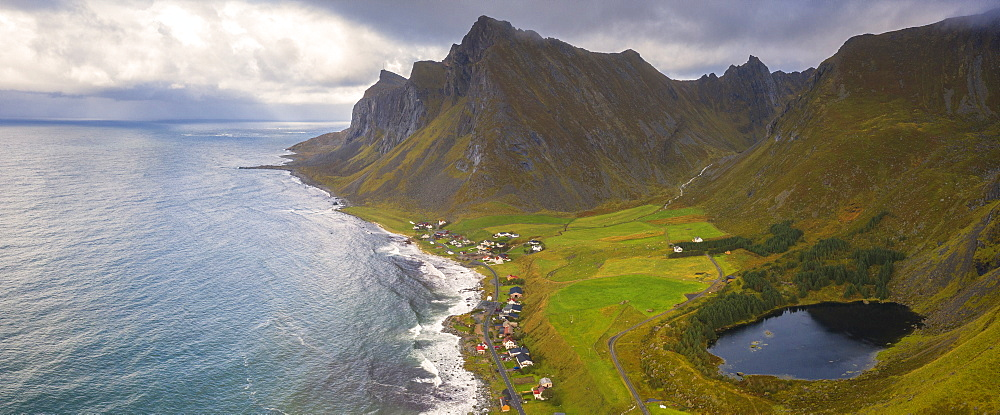 Coastline of Vikten, Lofoten Islands, Norway, Europe