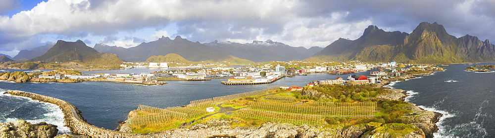 Panorama of Svolvaer in Norway, Europe