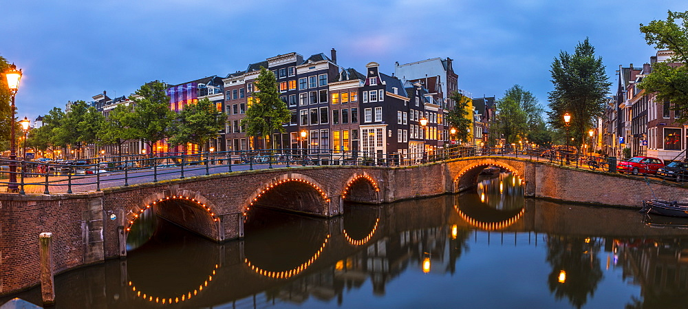 A bridge over the Keizersgracht canal, Amsterdam, Netherlands - 1207-139