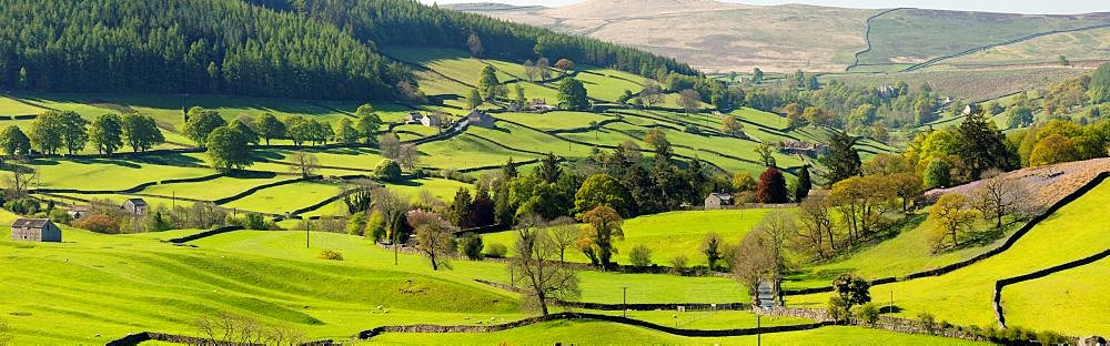 The hamlet of Howgill below Simons Seat in lower Wharfedale, North Yorkshire, UK. - 1228-208
