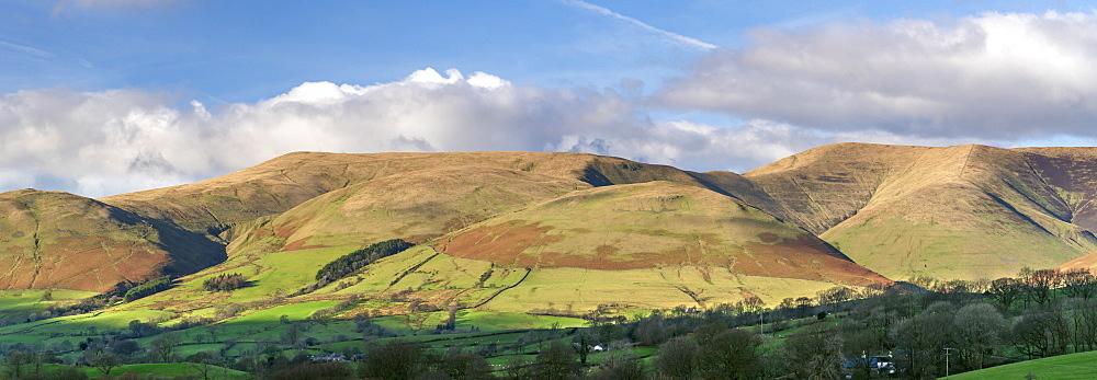 Panorama of The Howgill Fells near Sedbergh, Cumbria, England, United Kingdom, Europe - 1228-239