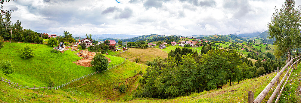 Rural landscape of Magura village, 1,000 metres up in the mountains, in the Piatra Craiului National Park - 1265-158