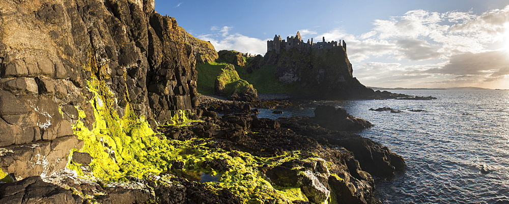 Dunluce Castle, County Antrim, Ulster, Northern Ireland, United Kingdom, Europe