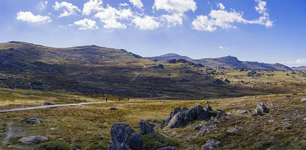 hiking trail towards Mount Kosciuszko,the highest peak of Australia